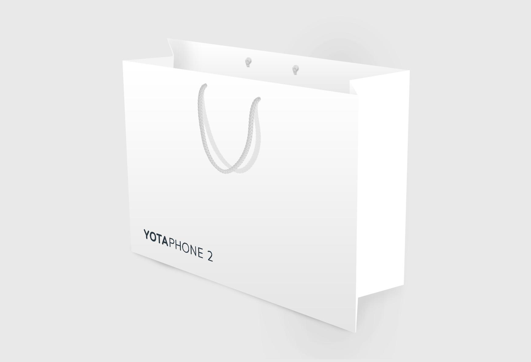 Изготовление полиграфии для презентации YotaPhone2, изготовление пакетов