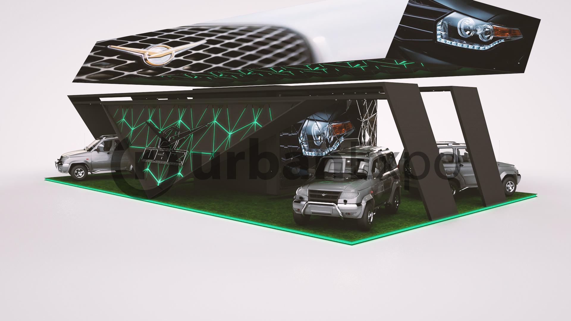 Концепт стенда для UAZ Patriot
